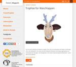 Wandtrophäe Ole als hilfreicher Halter für allerlei auch in Berlin im Trend!