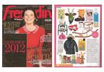 """Freundin"" Ausgabe 11/2011 mt Wandtrophäe Ole"