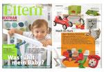 """""""Eltern"""" Ausgabe 10/2009 mit Kuscheltier Unikaten vom Kuschelwerk."""