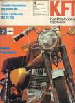 Bild: KFT 1973 Heft 04 (Technik Neuheiten TS 250, Erster Fahrbericht TS 250) Titelseite