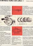 Bild: DDS 1977 Heft 07 (S 50-Fahrer helfen sich selbst -4- Arbeiten an der Kupplung/Schaltung) Seite 250