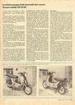 Bild: KFT 1986 Heft 05 (Kraftfahrzeugtechnik beurteilt den neuen Simson-Roller SR 50 B4) Seite 152