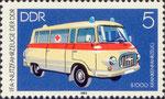 Briefmarke B1000 Krankenfahrzeug 5 Pfennig DDR 1982