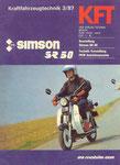 Bild: KFT 1987 Heft 03 (Kraftfahrzeugtechnik beurteilt SR80 CE) Titelseite