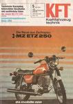 Bild: KFT 1981 Heft 05 (Das neue MZ-Motorrad: ETZ 250) Titelseite