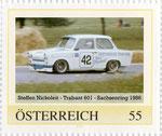 Briefmarke Steffen Nickoleit - Trabant 601 - Sachsenring 1986 Österreich 2008
