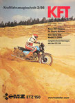bILD. KFT 1986 Heft 03 (KFT-Langstreckenerfahrungen mit der MZ ETZ 150) Titelseite