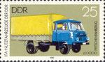 Briefmarke LD 3000 Reiseomnibus 25 Pfennig DDR 1982