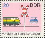 Briefmarke Vorsicht an Bahnübergängen 20 Pfennig DDR 1969