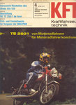 Bild: KFT 1977 Heft 04 (Beurteilung MZ TS 250/1 de Luxe) Titelseite