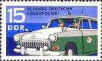 Briefmarke 25 Jahre Deutsche Volkspolizei 15 Pfennig DDR  1970