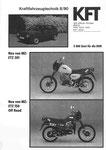 Bild: KFT 1990 Heft 06 (MZ geht in die Offensive: Neue ETZ 301 und neue of-road-Modelle) Titelseite