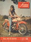 Bild: DDS 1962 Heft 11 (Neu: MZ ES 125/150 stark, leicht und schnittig) Titelseite