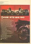 Bild: KFT 1984 Heft 09 (Das neue Motorrad aus Zschopau: MZ ETZ 125/150) Rückseite