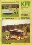 Bild: KFT 1986 Heft 07 (KFT stellt vor: Wohnzeltanhänger CT6-2W) Titelseite