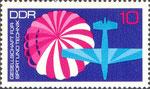 Briefmarke Gesellschaft für Sport und Technik - GST 10 Pfennig DDR  1972
