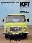 Bild: KFT 1985 Heft 01 Titelseite