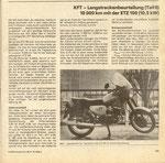 Bild: KFT 1989 Heft 09 (KFT Langstreckenbeurteilung- Teil II 10.000km mit der ETZ 150 10,5 kW) Seite 279