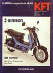 Bild: KFT 1985 Heft 12 (SR 50/80 Die neue Rollerserie aus Suhl) Titelseite