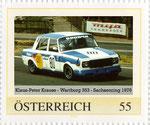 Briefmarke Klaus-Peter Krause - Wartburg 353 - Sachsenring 1976 Österreich 2008