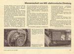 Bild: KFT 1986 Heft 09 (Messeneuheit von MZ: elektronische Zündung) Seite 261