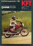 Bild: KFT 1989 Heft 01 (KFT beurteilt Seitenkoffer und Bugkanzel an der MZ ETZ 150) Titelseite