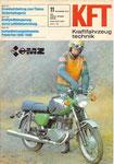 Bild: KFT 1979 Heft 11 (Start zur KFT-Langstreckenbeurteilung mit der MZ TS 250/1 de Luxe) Titelseite