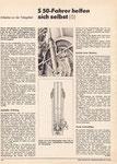 Bild: DDS 1978 Heft 03 (S 50-Fahrer helfen sich selbst -6- Arbeiten an der Telegabel) Seite 104