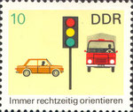 Briefmarke Immer rechtzeitig orientieren 10 Pfennig DDR 1969