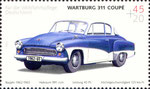 Briefmarke Wartburg 311 Coupé 45+20 Cent BRD 2003