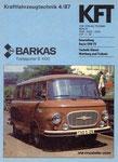 Bild: KFT 1987 Heft 04 (Bewährte Barkas-Transporter B 1000) Titelseite