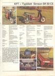 Bild: KFT 1989 Heft 03 (Rückseite innen, KFT - Typenblatt Simson SR 50 CE)