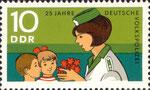 Briefmarke 25 Jahre Deutsche Volkspolizei 10 Pfennig DDR  1970