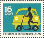 Briefmarke Die Strasse ist kein Spielplatz 15 Pfennig DDR 1966