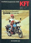 Bild: KFT 1985 Heft 09 (KFT beurteilt MZ ETZ 150) Titelseite