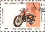 Briefmarke Motocyclettes 18 AFS Afghanistan 1985