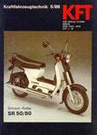 Bild: KFT 1986 Heft 05 (Kraftfahrzeugtechnik beurteilt den neuen Simson-Roller SR 50 B4) Titelseite