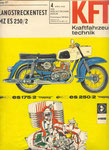 Bild: KFT 1968 Heft 04 (Langstreckentest MZ ES 250/2) Titelseite