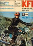 Bild: KFT 1974 Heft 04 (Beurteilung MZ TS 250 mit Fahrvergleich ETS 250) Titelseite