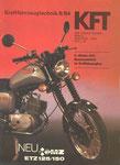 Bild: KFT 1984 Heft 09 (Das neue Motorrad aus Zschopau: MZ ETZ 125/150) Titelseite
