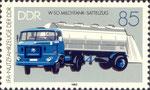 Briefmarke W50 Milchtank-Sattelzug 85 Pfennig DDR 1982