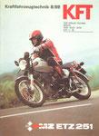 Bild: KFT 1989 Heft 08 (Kraftfahrzeugtechnik beurteilt MZ ETZ 251) Titelseite