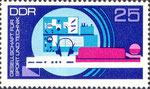Briefmarke Gesellschaft für Sport und Technik - GST 25 Pfennig DDR  1972