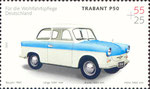 Briefmarke Trabant P50 55+25 Cent BRD 2002