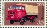 Briefmarke W50 Pritschenfahrzeug 35 Pfennig DDR 1982