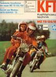 Bild: KFT 1973 Heft 07 (Technische Einzelheiten der neuen Motorräder MZ TS 125 und TS 150) Titelseite