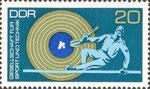 Briefmarke Gesellschaft für Sport und Technik - GST 20 Pfennig DDR  1972