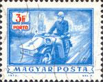 Briefmarke MZ ES 250 Gespann 3 Forint Ungarn 1973