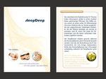 Titelseite und Innenseite Infobroschüre A6, 8-seitig gefalzt