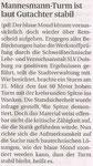 Bergische Morgenpost, 11.9.2015